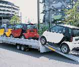 Drehschemel-Anhänger als Autotransporter