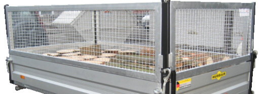 Laubgitter-Aufsatz Stahlgitter-Aufsatz Gitter-Aufsatz Bordwand-Aufsatz für Humbaur Pkw-Anhänger