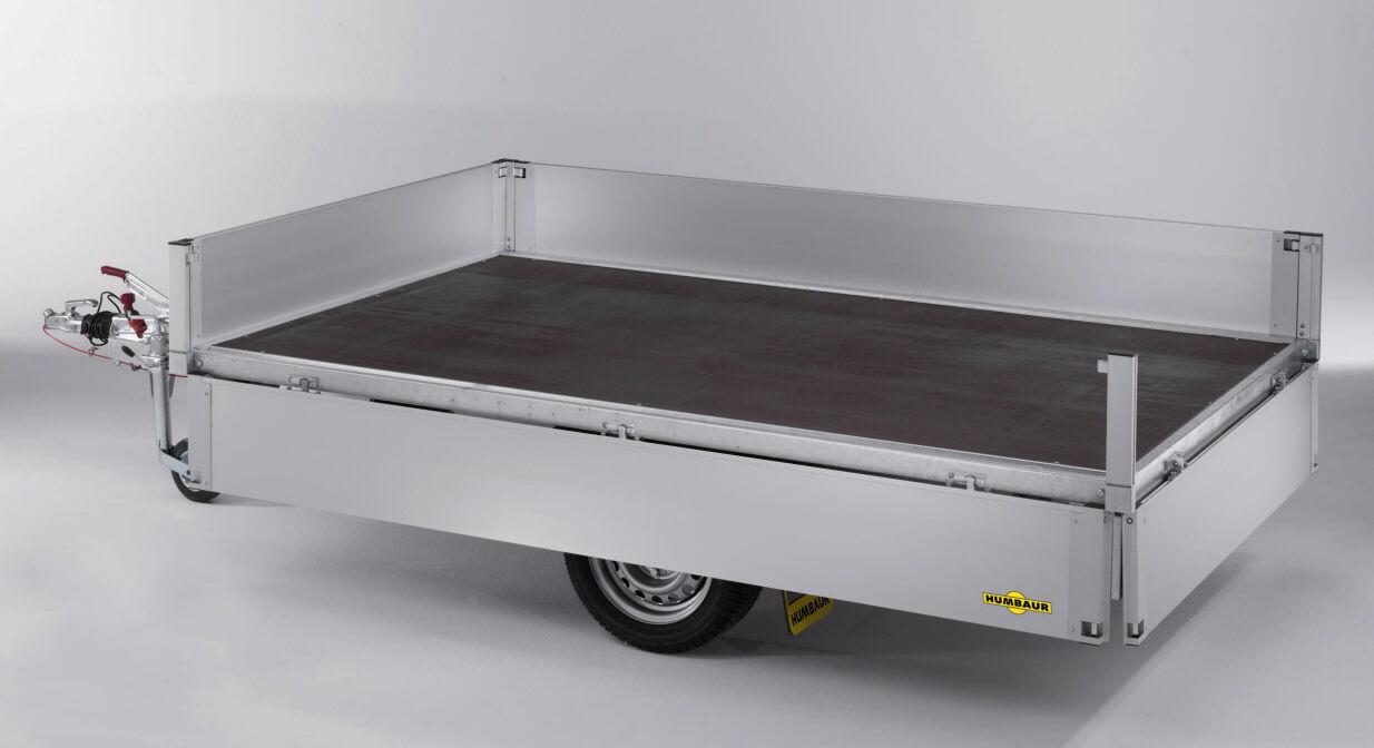 gro ansicht pkw anh nger 1500 kg hochlader humbaur 1412. Black Bedroom Furniture Sets. Home Design Ideas