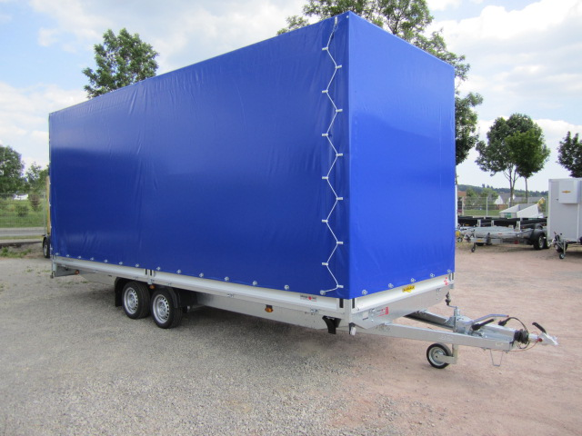gro ansicht pkw anh nger 3500 kg kutschentransporter mit hochplane und rampe 610x210x250 cm. Black Bedroom Furniture Sets. Home Design Ideas