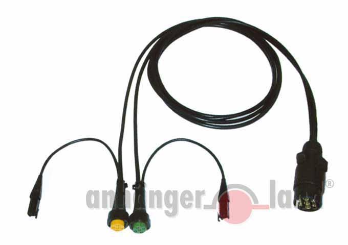 Kabelsatz Multipoint 7-polig, 10 m, 2 x Abgänge Steckverbinder für ...